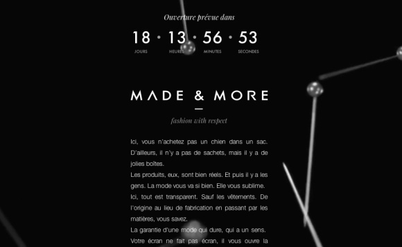 Made & More prelaunch page